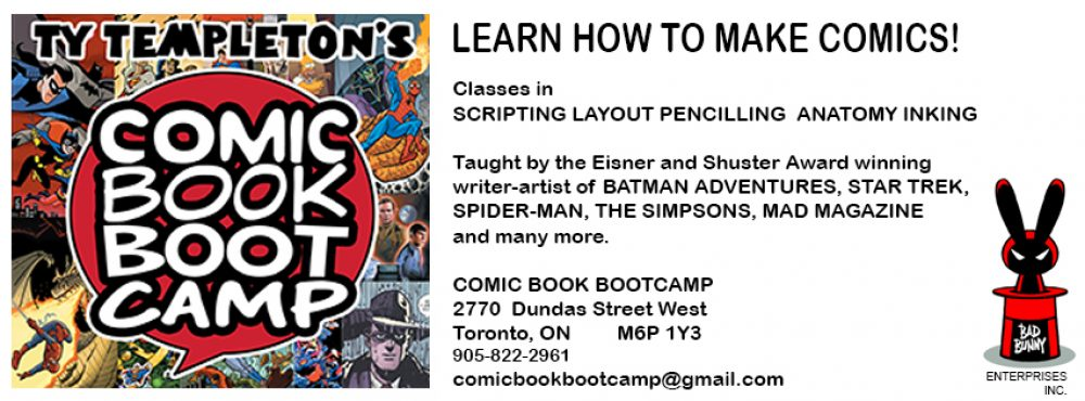 Ty Templeton's COMIC BOOK BOOTCAMP!!